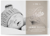 Heirloom Scroll Foil-Pressed Birth Announcement Cards