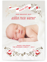An Angel is Born Foil-Pressed Birth Announcement Cards