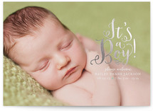 Darling Birth Foil-Pressed Birth Announcement Cards