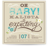 Oh Baby Florals Baby Shower Invitations
