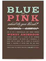 Blue or Pink Reveal Baby Shower Invitations