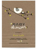 Nesting Bird Baby Shower Invitations