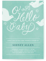 Matthiola Baby Shower Invitations