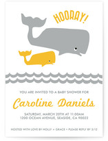 Big Whale Little Whale Baby Shower Invitations