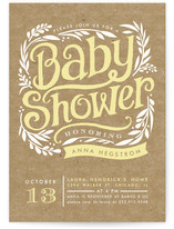 Show Poster Baby Shower Invitations