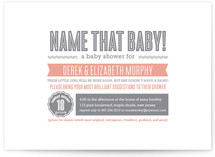 Chic Headline Baby Shower Invitations