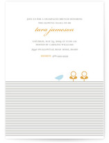 Classic Stripes & Sprouts Baby Shower Invitations