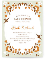 folksy floral Baby Shower Invitations