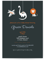 planes dinos & lions Baby Shower Invitations