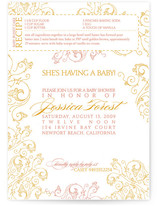 Recipe Baby Shower Invitations