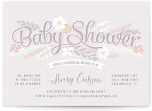 Sweet Garden Shower Baby Shower Invitations