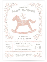 Rockabye Horse Baby Shower Invitations