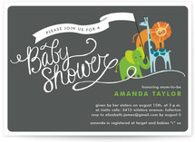 Baby Animal Parade Baby Shower Invitations