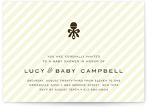 Petite Rattle Baby Shower Invitations