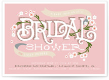 Shower Blossoms Bridal Shower Invitations