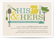 Household Mix-Up Bridal Shower Invitations