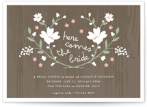 Rustic Wildflowers Bridal Shower Invitations