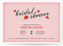 Poppy Flower Bridal Shower Invitations
