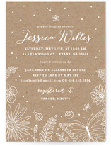 Wildflowers Bridal Shower Invitations