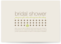 Daisy Calendar Bridal Shower Invitations