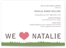 float + green Bridal Shower Invitations
