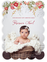 Fleur de Noel Birth Announcements