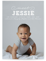 Joyful Introduction Birth Announcements