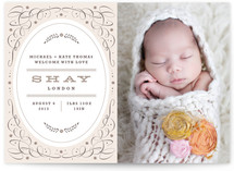 Vintage Charm Birth Announcements