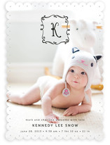 Monogram Sketch Birth Announcements