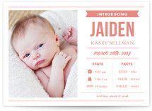 Stats and Facts Birth Announcements