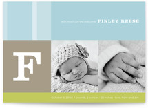 Elliott Stripe Birth Announcements