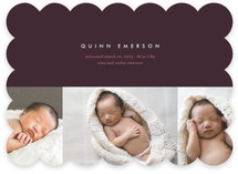 high style baby Birth Announcements