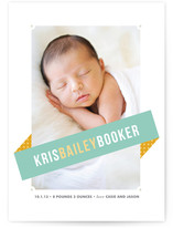 Angled Banner Birth Announcements