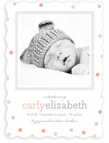Delicate Dots Birth Announcements