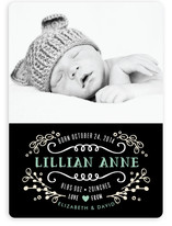 Sweet Chalkboard Birth Announcements