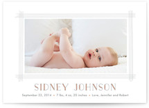 Lined Frame Birth Announcements