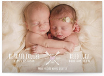 Heart & Arrow Birth Announcements