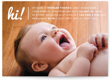 Baby Talk Birth Announcements