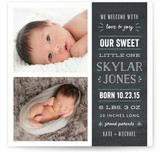Whimsical Chalkboard Birth Announcements