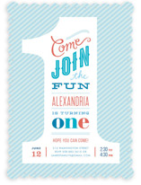 The Big One! Children's Birthday Party Invitations