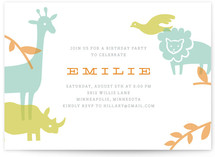 Zoo Menagerie Children's Birthday Party Invitations