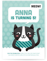 Cat's Meow Children's Birthday Party Invitations