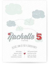 Summer Day Children's Birthday Party Invitations