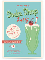 Soda Shop Children's Birthday Party Invitations