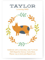 Farm Friends Children's Birthday Party Invitations
