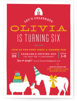Farm Party Children's Birthday Party Invitations
