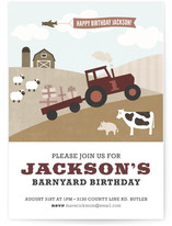 Barnyard Bash Children's Birthday Party Invitations