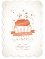 Cupcake Celebration Children's Birthday Party Invitations