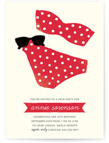 Polka Dot Swim Children's Birthday Party Invitations