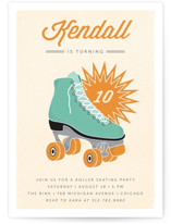 Retro Skate Children's Birthday Party Invitations